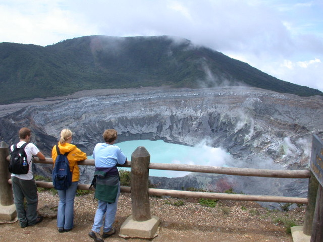 VIEW OF THE MAIN CRATER OF THE POAS VOLCANO