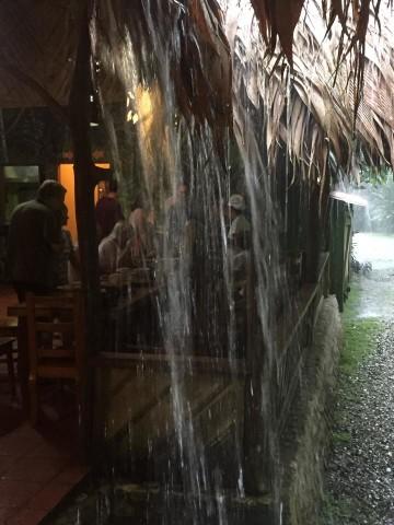 Rain in Esquinas Rainforest Lodge