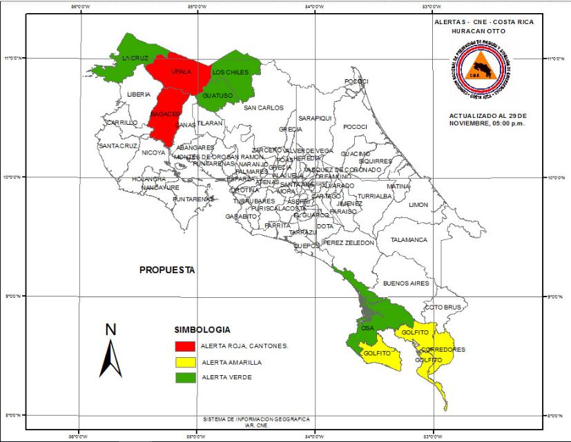 Mapa emergencias CNE