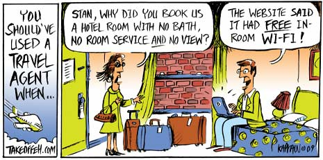 travel agent cartoon camino travel