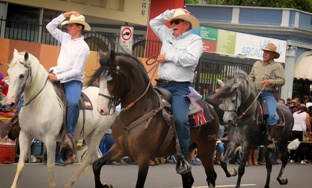 El tope de San José! The most popular horse parade in Costa Rica