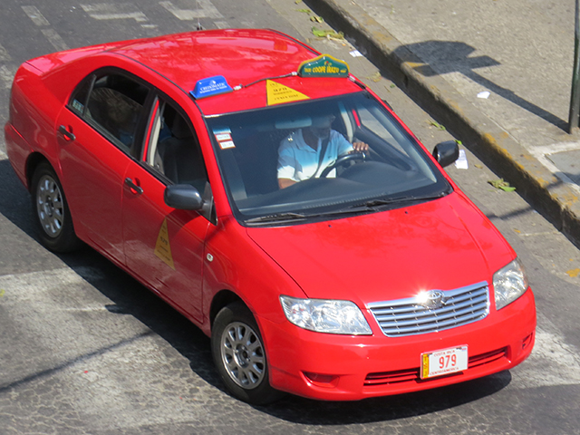 Red taxis of Costa Rica