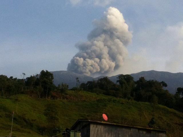 Turrialba and Rincon Volcanoes eruptions