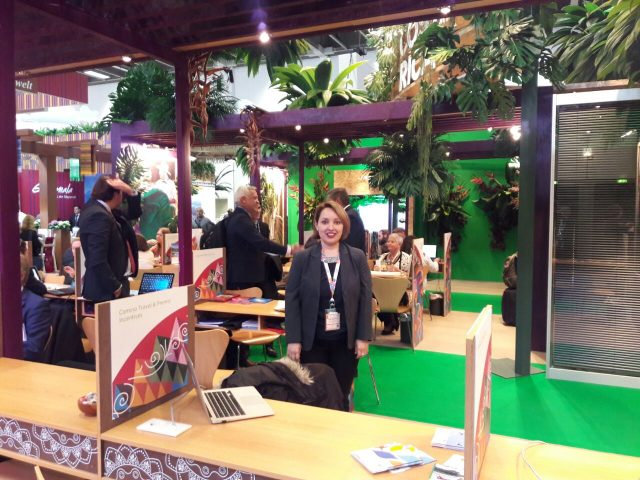 Erika Kristaly at our stand in ITB Berlin 2017