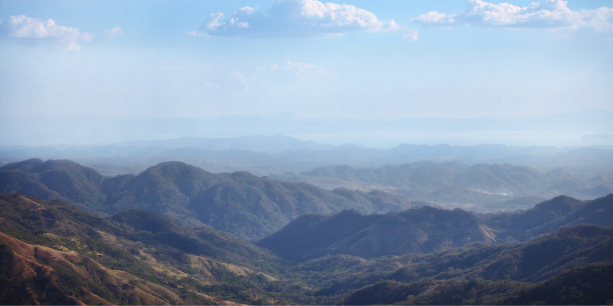 An aerial shot of Nicoya, Costa Rica