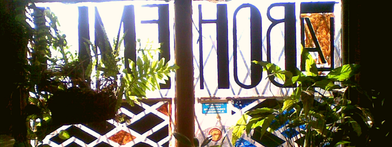 The window view of Bar La Bohemia