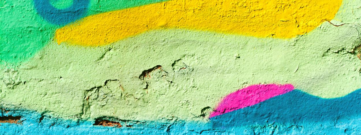Colorful graffiti in Barrio California in Costa Rica