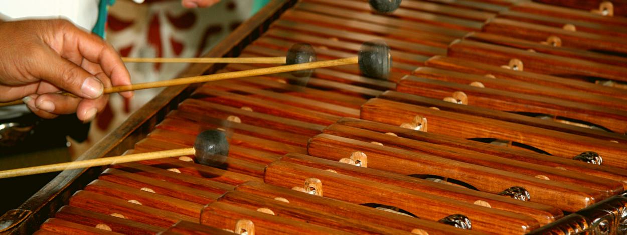 Marimba players in San Jose, Costa Rica