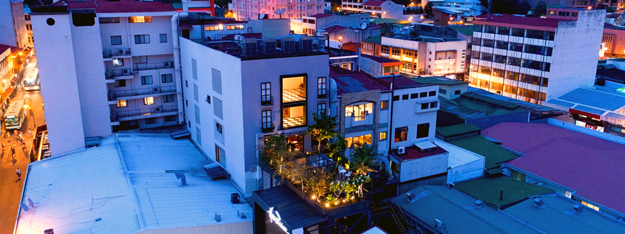 View from above of Azotea calle 7 in Hotel Presidente