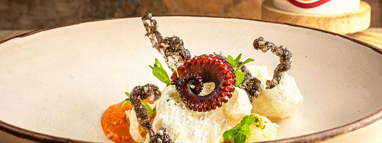 A contemporary dish at Restaurante Silvestre in San Jose, Costa Rica