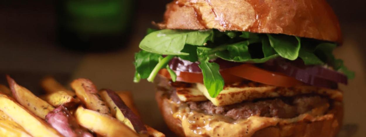 Eat at Apotecario in San Jose - Hamburger and Fries