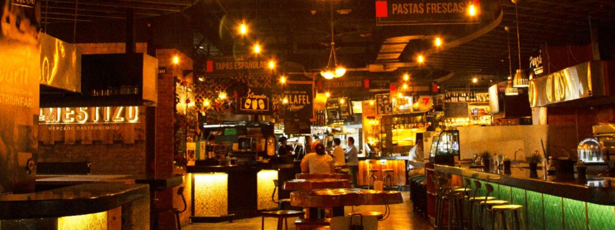 Mestizo Gastronomic Market in Escazu, Costa Rica