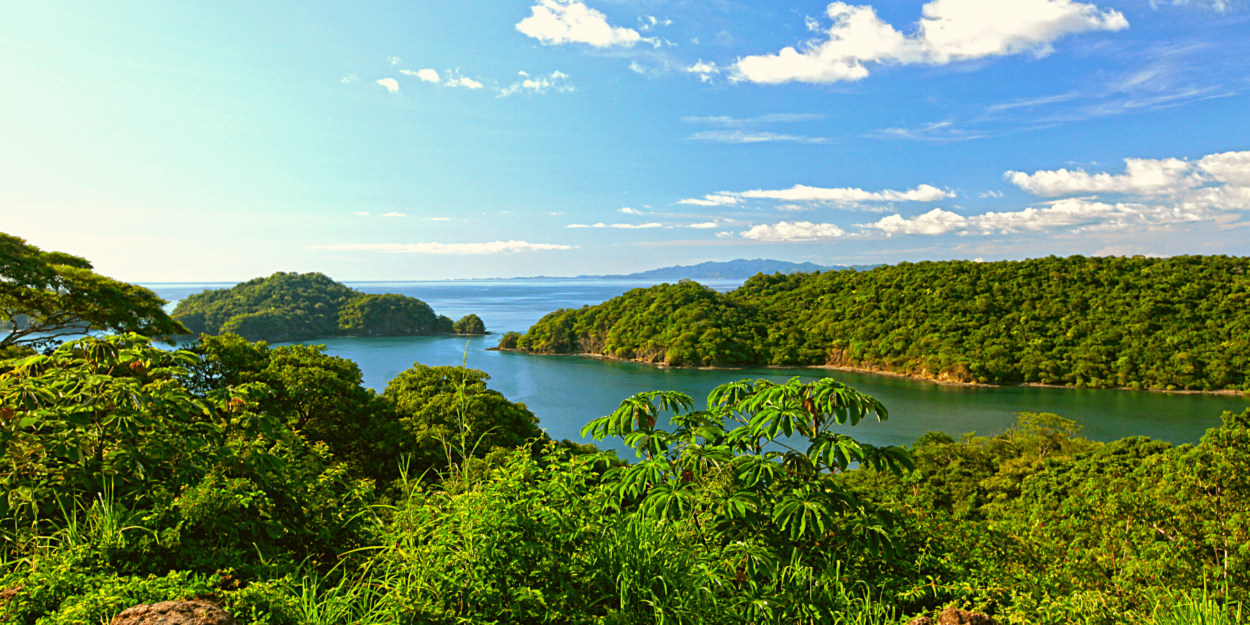 An image of Papagayo Peninsula from mainland Guanacaste on the Pacific Ocean