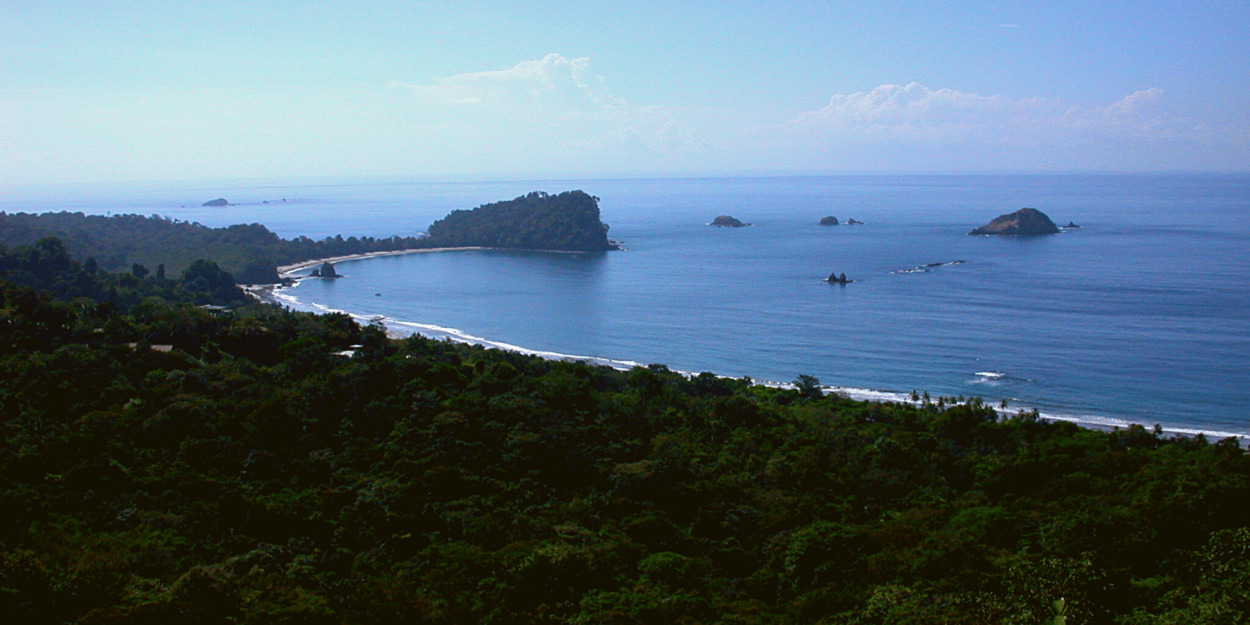 """An image of the """"whale's tail"""" at Manuel Antonio in Costa Rica"""