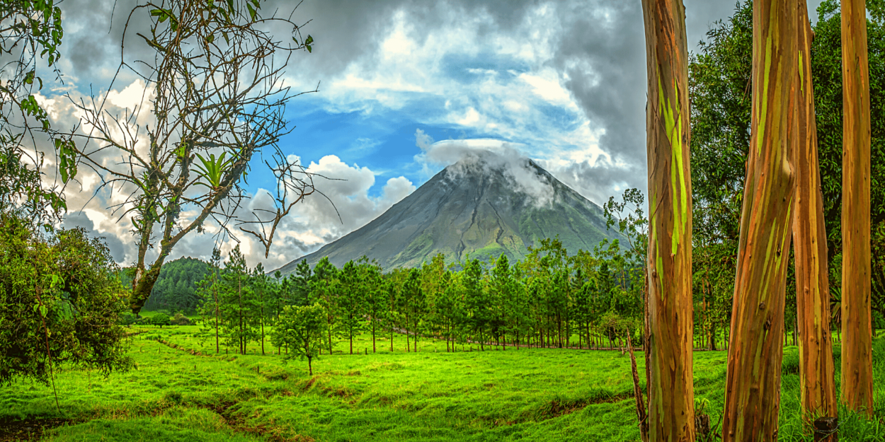 A view of the Arenal Volcano in Costa Rica