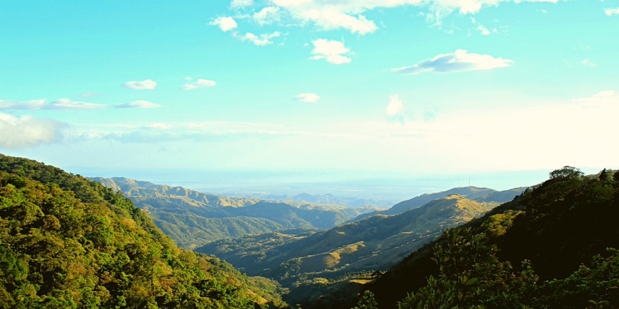 A view of the hills around Monteverde in Costa Rica