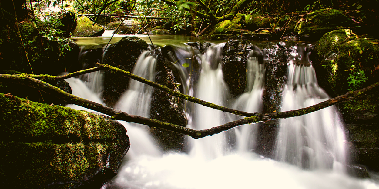 A waterfall on the Savegre River in the Southern Highlands of Costa Rica