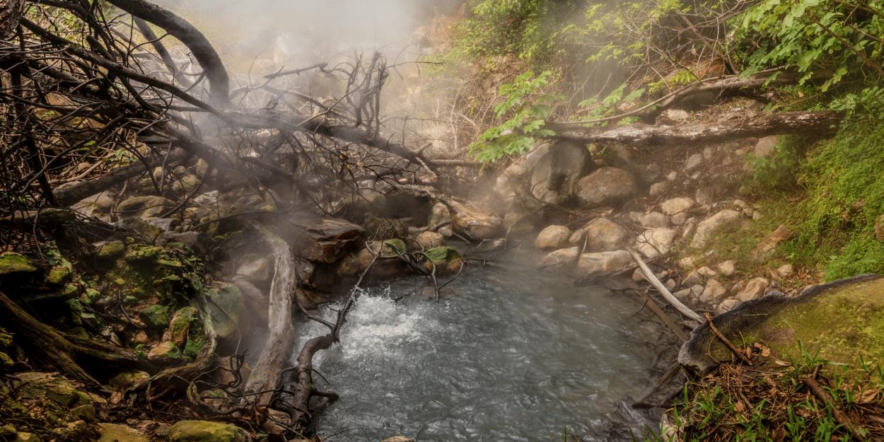 A boiling pool near the active Rincon de la Vieja volcano