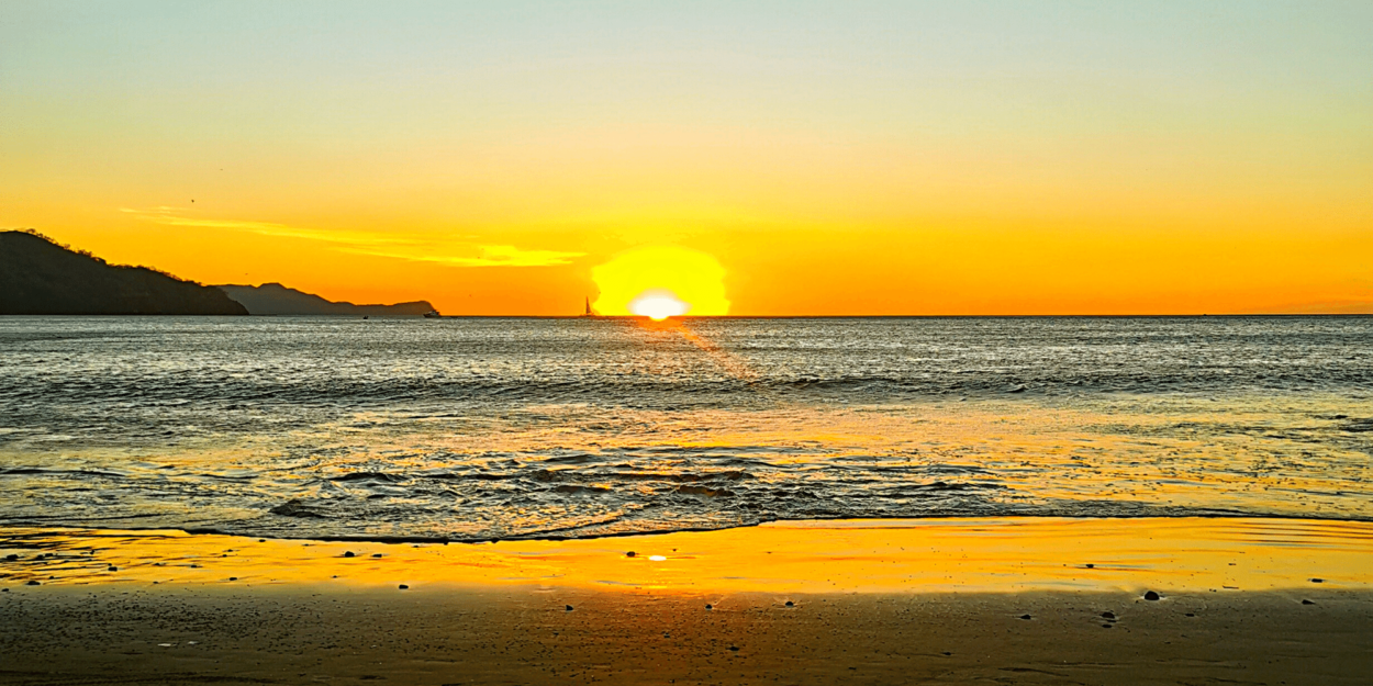 The sunset at Playas del Coco in Costa Rica