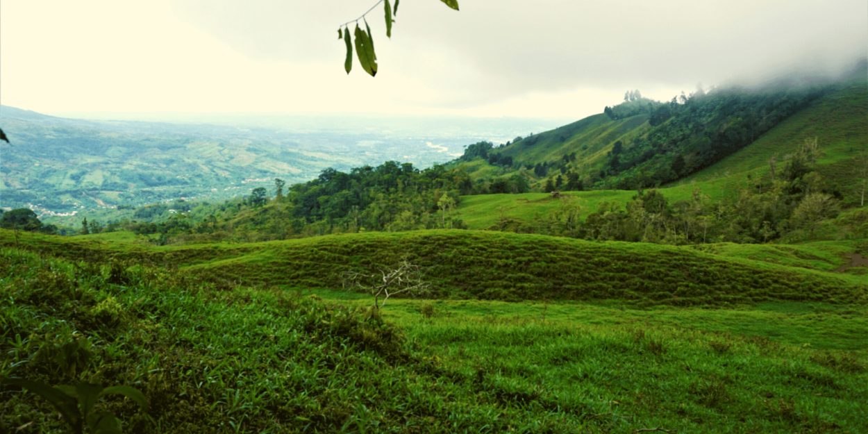 The countryside near Rivas de Perez Zeledon in Costa Rica