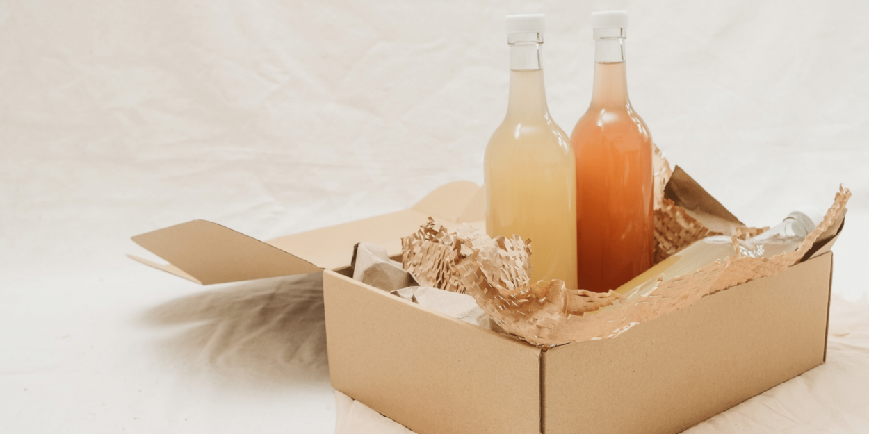 Sustainable tourism that includes paper packaging and glass bottles